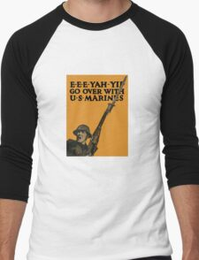 Go Over With US Marines -- World War One Men's Baseball ¾ T-Shirt