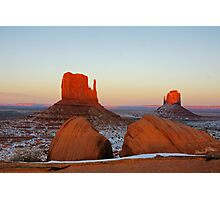 Fiery Monuments Photographic Print