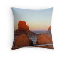Fiery Monuments Throw Pillow