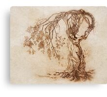 Hedge Witch, the Lady in the Tree Canvas Print