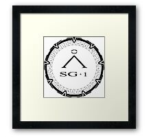 Stargate SG-1 [Two Tone Black] Framed Print
