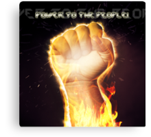 Power to the people! Canvas Print