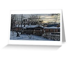One Cold Winter Morning Greeting Card