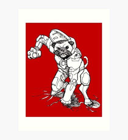 Pugs Love Comics Too - Iron Pug Art Print