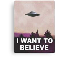 I want to believe (pink) Canvas Print