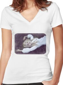 Sweet Dreams Women's Fitted V-Neck T-Shirt