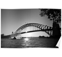 The harbour bridge Poster