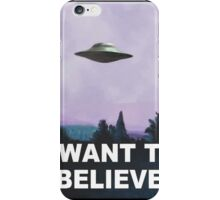 I want to believe (purple) iPhone Case/Skin
