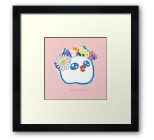 Pandabird in Spring - Pink! Framed Print