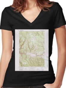 USGS Topo Map Oregon Lehman Springs 280502 1967 24000 Women's Fitted V-Neck T-Shirt