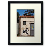 Office Rage by Banksy Framed Print
