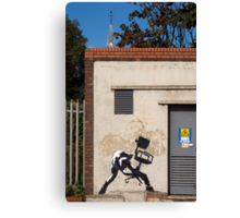 Office Rage by Banksy Canvas Print