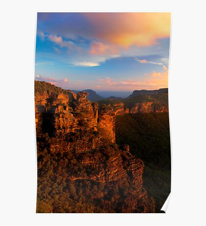 Boar's Head Rock, Katoomba, NSW. Poster