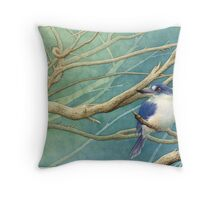 Forest kingfisher (Todiramphus macleayii) Throw Pillow