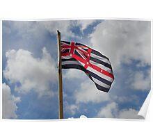 Fluttering Flag Poster