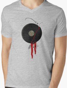 The bloody vinyl record won't die...Grunge Vintage Mens V-Neck T-Shirt