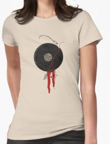 The bloody vinyl record won't die...Grunge Vintage Womens Fitted T-Shirt