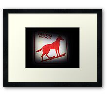 Dingo Flour Sign - Fremantle Western Australia  Framed Print