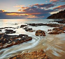 Sunrise at Seven Mile Beach Tasmania #2 by Chris Cobern