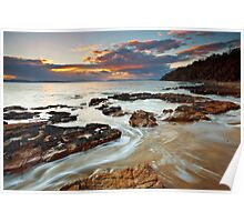 Sunrise at Seven Mile Beach Tasmania #2 Poster