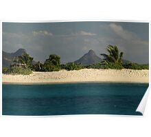 Deserted Beach in the Grenadines Poster
