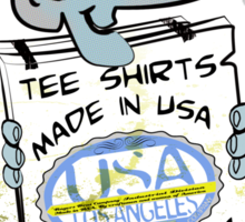 usa los angeles  tshirt by rogers bros co Sticker