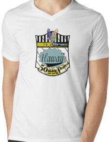 usa hawaii by rogers bros Mens V-Neck T-Shirt