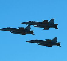 RAAF F/A-18s at Airshow Downunder 2011 by Bev Pascoe
