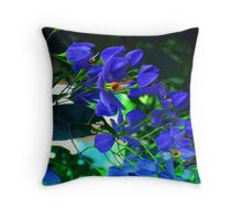 magestic blue Throw Pillow