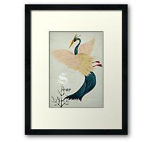 Soar flamingo! Framed Print