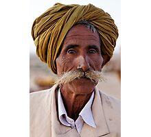 Elderly Cameleer, Thar Desert Photographic Print