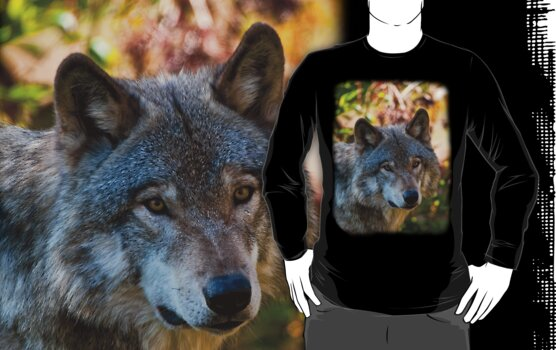 Wolf  Shirt - 4 by Michael Cummings