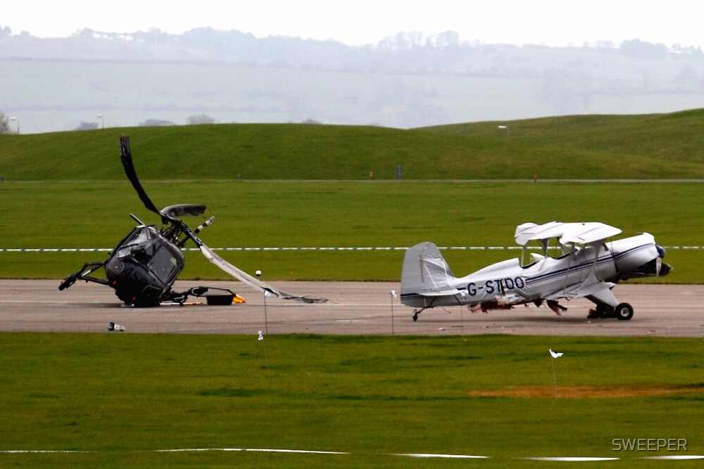 Air crash at Yeovilton Sat 5th March 2011 by SWEEPER