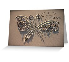 The Peace Butterfly Greeting Card