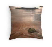 Holy Isle sunrise - Lamlash Throw Pillow