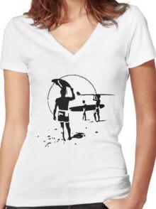 The Endless Summer - logo Women's Fitted V-Neck T-Shirt