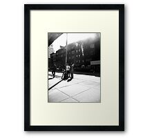 chatting on Perry Street Framed Print