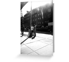 chatting on Perry Street Greeting Card