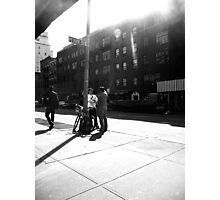 chatting on Perry Street Photographic Print