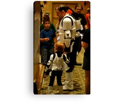 Stormtrooper Take Your Son To Work Canvas Print