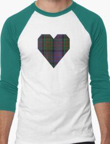 00572 MacDonald of Clanranald Tartan Men's Baseball ¾ T-Shirt