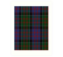 00572 MacDonald of Clanranald Tartan Art Print