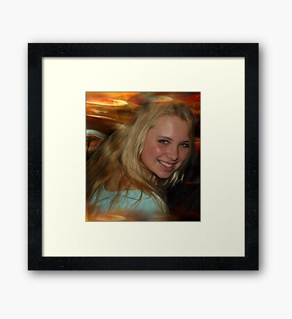 Blond Beauty Framed Print