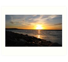 River Spey Sunset Art Print