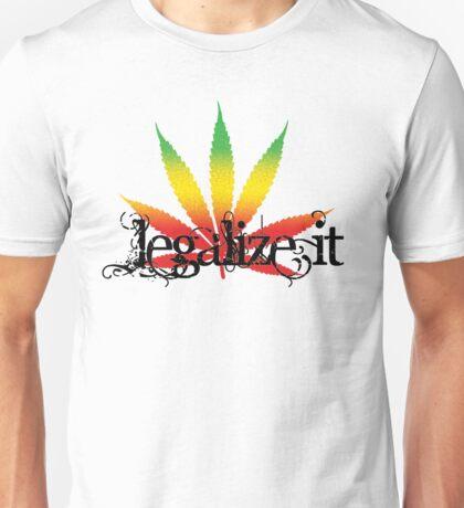Colorful Legalize It Unisex T-Shirt