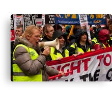 Right to Work protest march - Birmingham, Oct 2010 Canvas Print