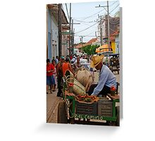 The mobile Grocer, Trinidad, Cuba Greeting Card