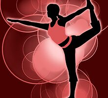 Super Smash Bros. Red Wii Fit Trainer (Female) Silhouette by jewlecho