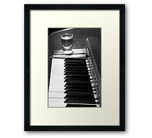 Piano Whiskey Row Black and White Print Framed Print