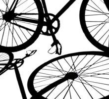 Fixie - one bike one gear (black) Sticker